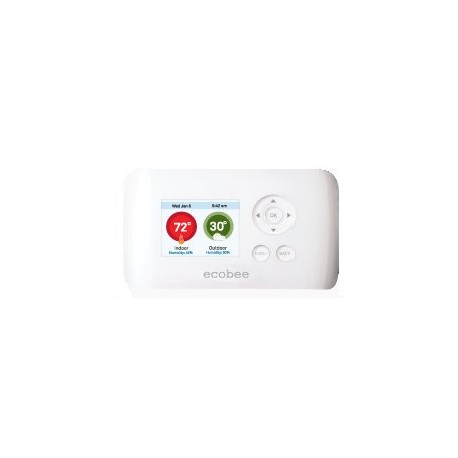 EB-EMSSi-01 Ecobee EMS Si Thermostat with push button control - CPR Bestek